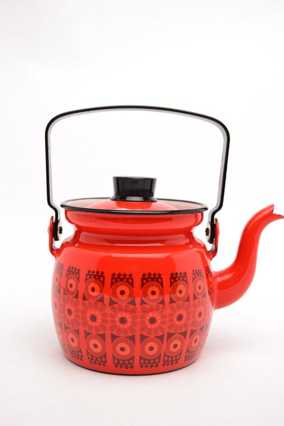 Arabia FInel, Kaj Franck teapot, Vintnik at Etsy