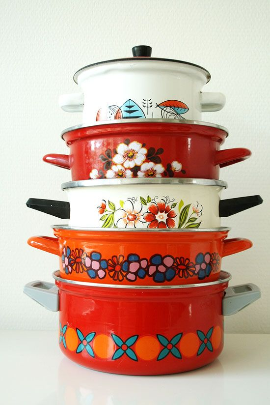 Enamel casserole collection, bywilma.com