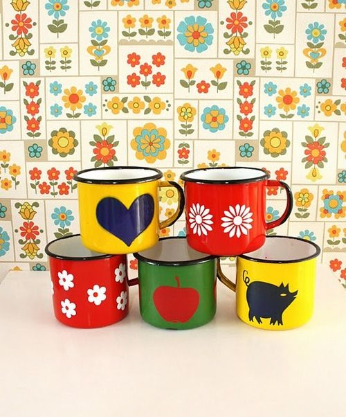 Enamel mug collection, caterinaregina at Tumblr