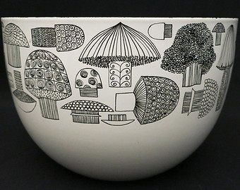 Kaj Franck mushroom bowl, Bobbys Boutique at Etsy