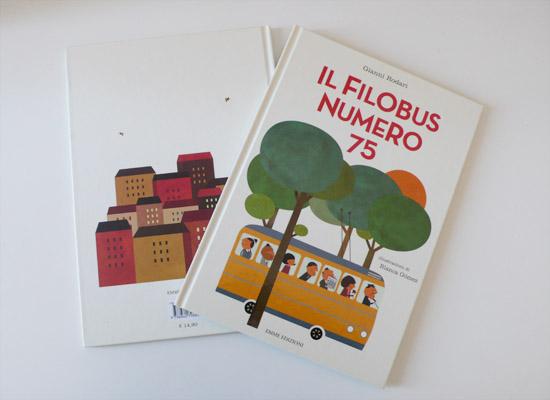 Il filobus numero 75, Illustrated book, written by Gianni Rodari and published by Emme Edizioni