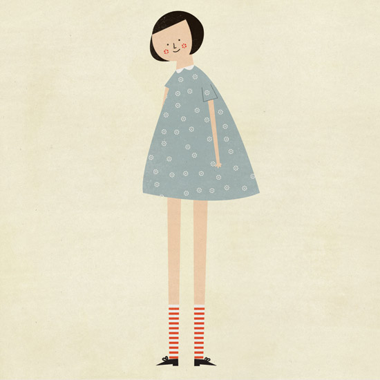 Illustration for an interview of Blanca on French Milk Magazine, December 2012 issue