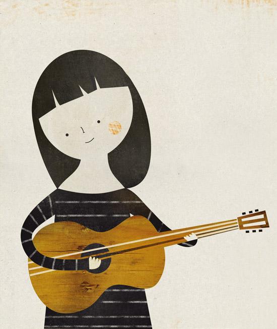Music illustration for Kireei magazine