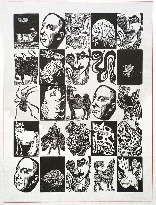 BestiaryBestiario-poster-for-the-book-by-Pablo-Neruda-by-Antonio-Frasconi
