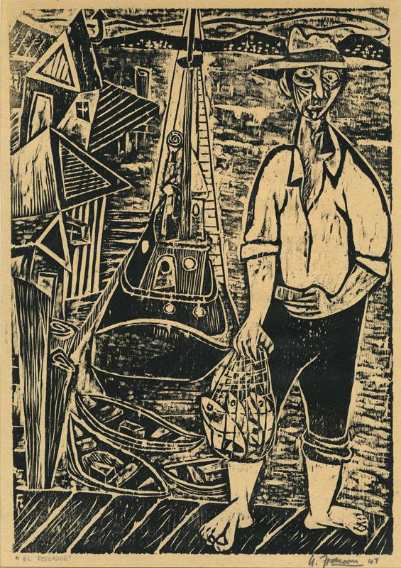 El-Pescador-aka-The-Fisherman-by-Antonio-Frasconi